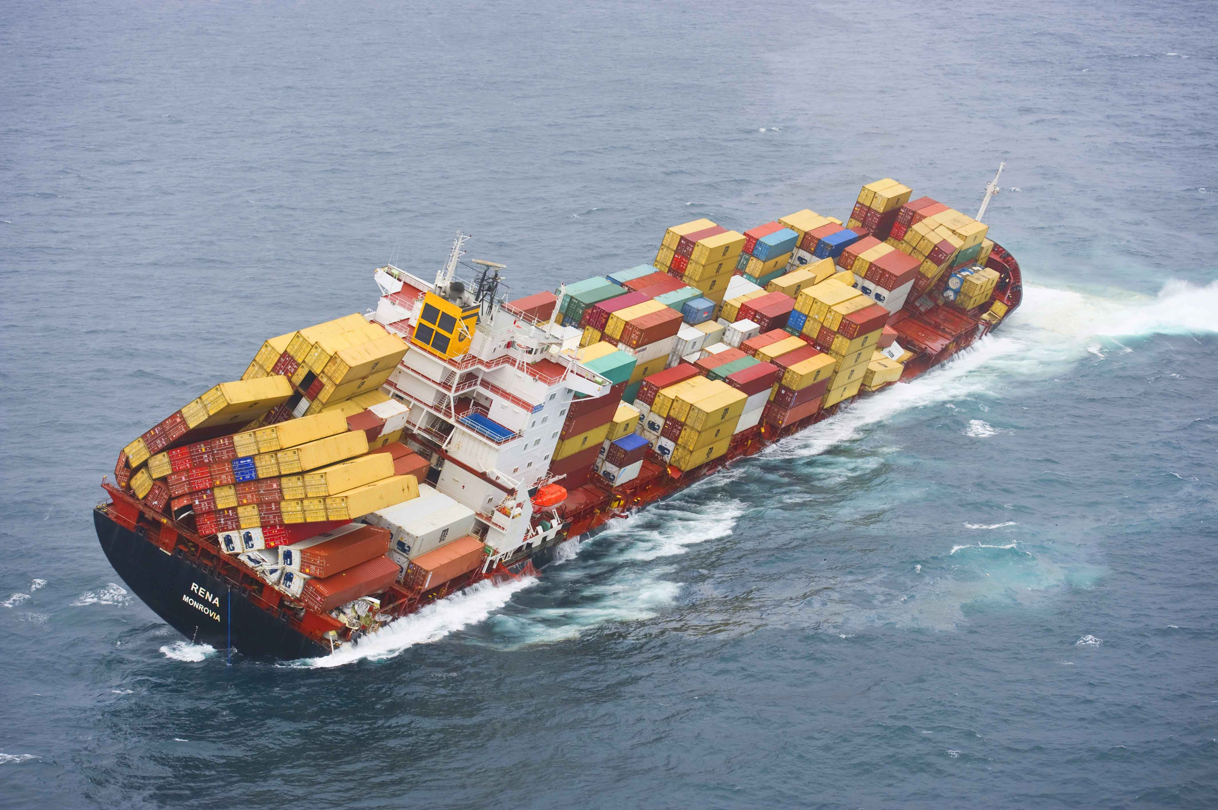 cargo ship shipping catastrophe